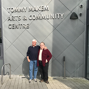 Chuck and Steve at the Tommy Makem Arts and Community Centre